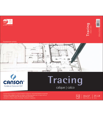 """Canson Foundation Series Tracing Paper Pad 14""""X17""""-50 sheets"""