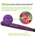 Rhino Ultra Foam 29\u0022 Bat & Ball Set, 6/Set