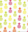 Snuggle Flannel Fabric -Bright Pineapples