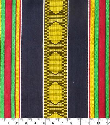Global Cotton Shirting Fabric-Multi Global Stripe