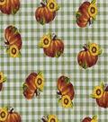 Harvest Cotton Fabric -Sunflower Plaid
