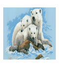 RIOLIS Counted Cross Stitch Kit 23.62\u0022X15.75\u0022-Polar Bears (10 Count)