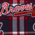 Atlanta Braves Fleece Fabric -Plaid