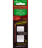 Black Gold Applique/Sharps Needles-Size 9 6/Pkg, , hi-res