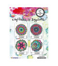 Art By Marlene Flowers Cling Stamp-Geometric