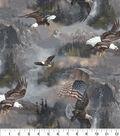 Novelty Cotton Fabric 43\u0022-Photo Real Eagle