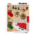 Simplicity Pattern 8828 Red Animal Holiday Decor