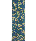 Save the Date 2.5\u0022 x 15ft Ribbon-Gold Fern On Teal