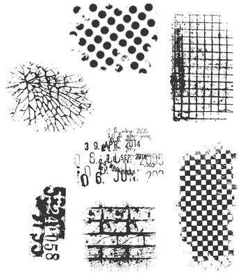 Tim Holtz Cling Rubber Stamp Set-Ultimate Grunge