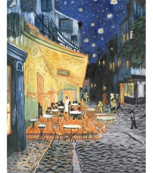 """Oil Painting Masterpiece Set 16""""X20""""-Terrace At Night"""