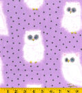 Snuggle Flannel Fabric -Fuzzy Owl