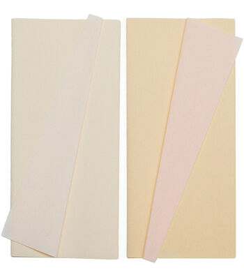 Lia Griffith 2 pk 9.8''x49.2'' Extra Fine Double-Sided Crepe Paper-Blush