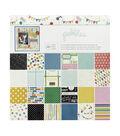 American Crafts Pack of 48 12\u0027\u0027x12\u0027\u0027 Paper Pad-Birthday Wishes