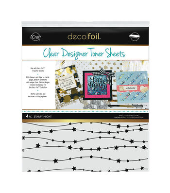 "Deco Foil Clear Toner Sheets 8.5""X11"" 4/Pkg-Starry Night"