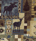 Snuggle Flannel Fabric -Woodland Patch Distressed