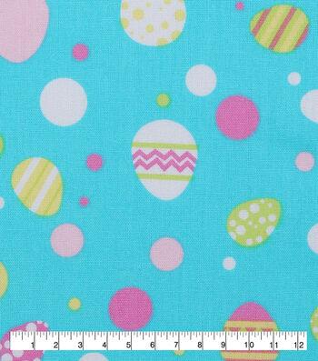 """Easter Cotton Fabric 53""""-Easter Egg Multi Dot"""