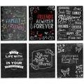 Flexible Chalkboard Cover Album 4\u0022X6\u0022 36 Pockets