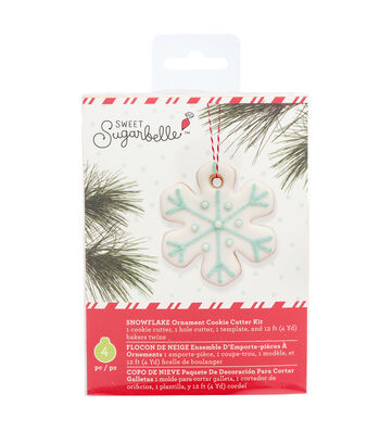 Sweet Sugarbelle Christmas Ornament Cookie Cutter Kit-Snowflake