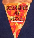 No Sew Fleece Throw 48\u0022-Dreaming Of Pizza