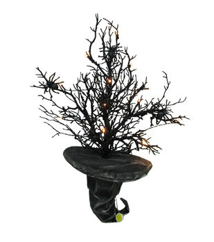 Maker's Halloween 11''x27'' LED Spooky Twigs in Witch Hat