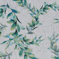 Christmas Cotton Fabric-Green Berries White Wood