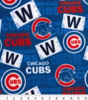 Chicago Cubs Fleece Fabric-Print, , hi-res