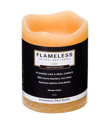 Inglow 3X4In Pillar Honey Flameless