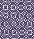 Quilter\u0027s Showcase Cotton Fabric 44\u0022-Grape Kaleidescope On White