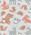 Nursery Flannel Fabric-Woodland Tossed