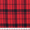 Plaiditudes Brushed Cotton Fabric-Red & Black Spaced Plaid