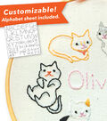 Penguin & Fish Embroidery Kit 7\u0022 Round Stitched in Floss-Kitties