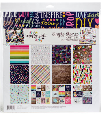Simple Stories Crafty Girl 12''x12'' Collection Kit