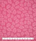 Doodles Juvenile Apparel Fabric -Pink Leaf Pucker