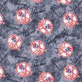 NY Yankees Flannel Fabric-Tie Dye