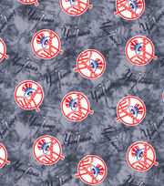 NY Yankees Flannel Fabric-Tie Dye, , hi-res
