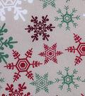Holiday Showcase Christmas Cotton Fabric 43\u0027\u0027-Snowflakes on Ivory