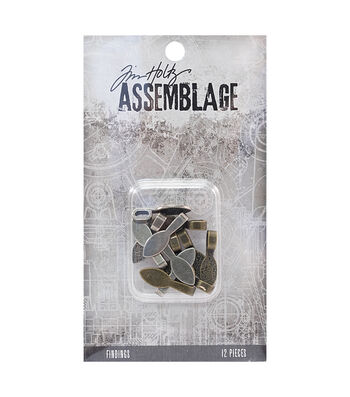 Tim Holtz Assemblage 12 Pack Bail Findings
