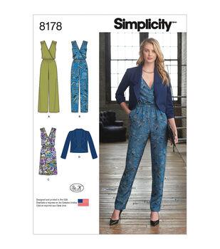 43095ac9a99 Simplicity Pattern 8178 Misses  Jumpsuit