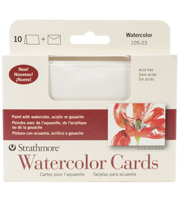 Strathmore Watercolor Cold Press Cards & Envelopes 3.5''x4.88''