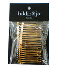 hildie & jo 2 pk Wire Hair Combs-Gold