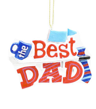 Handmade Holiday Christmas Ornament-The Best Dad