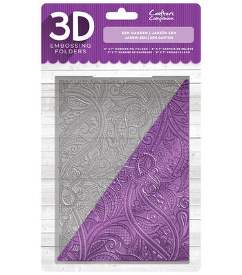 Crafter's Companion 5''x7'' 3D Embossing Folder-Zen Garden