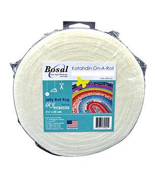 Bosal Katahdin On-A-Roll Cotton Blend Batting-White 2.5''X25yd