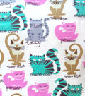 Snuggle Flannel Fabric -Kitty Breeds