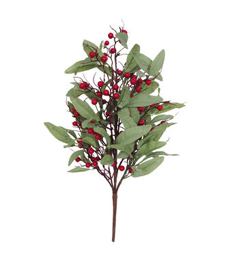 Blooming Holiday Christmas Olive Branch with Berry Bush