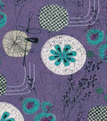Modern Cotton Fabric 43\u0027\u0027-Garden on Amethyst