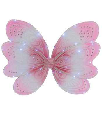 Maker's Halloween Child Butterfly Wings with LED Lights