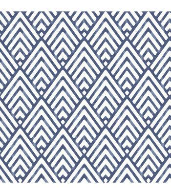 Wallpops Nuwallpaper Peel & Stick Wallpaper-Deep Blue Arrowhead