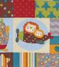 Snuggle Flannel Fabric -Baby Animal Plane Patch
