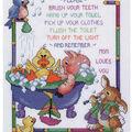 Bath Time Rules Counted Cross Stitch Kit-10\u0022X12\u0022 14 Count